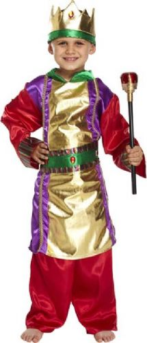 Fancy Dress Child King Costume 4-6 Years